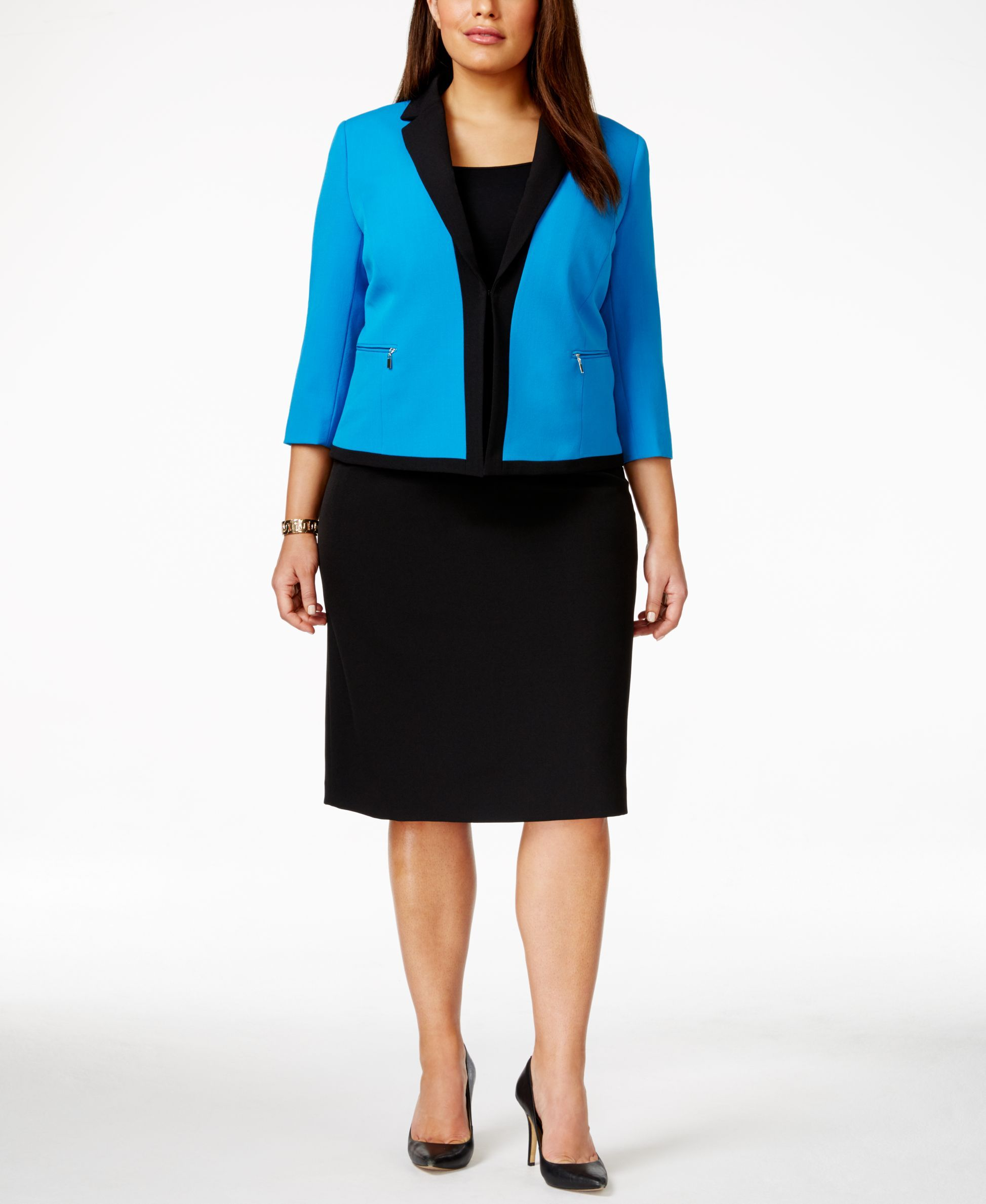 af18a36906295 Tahari Asl Plus Size Jacket Skirt Suit | Dresses and Things ...