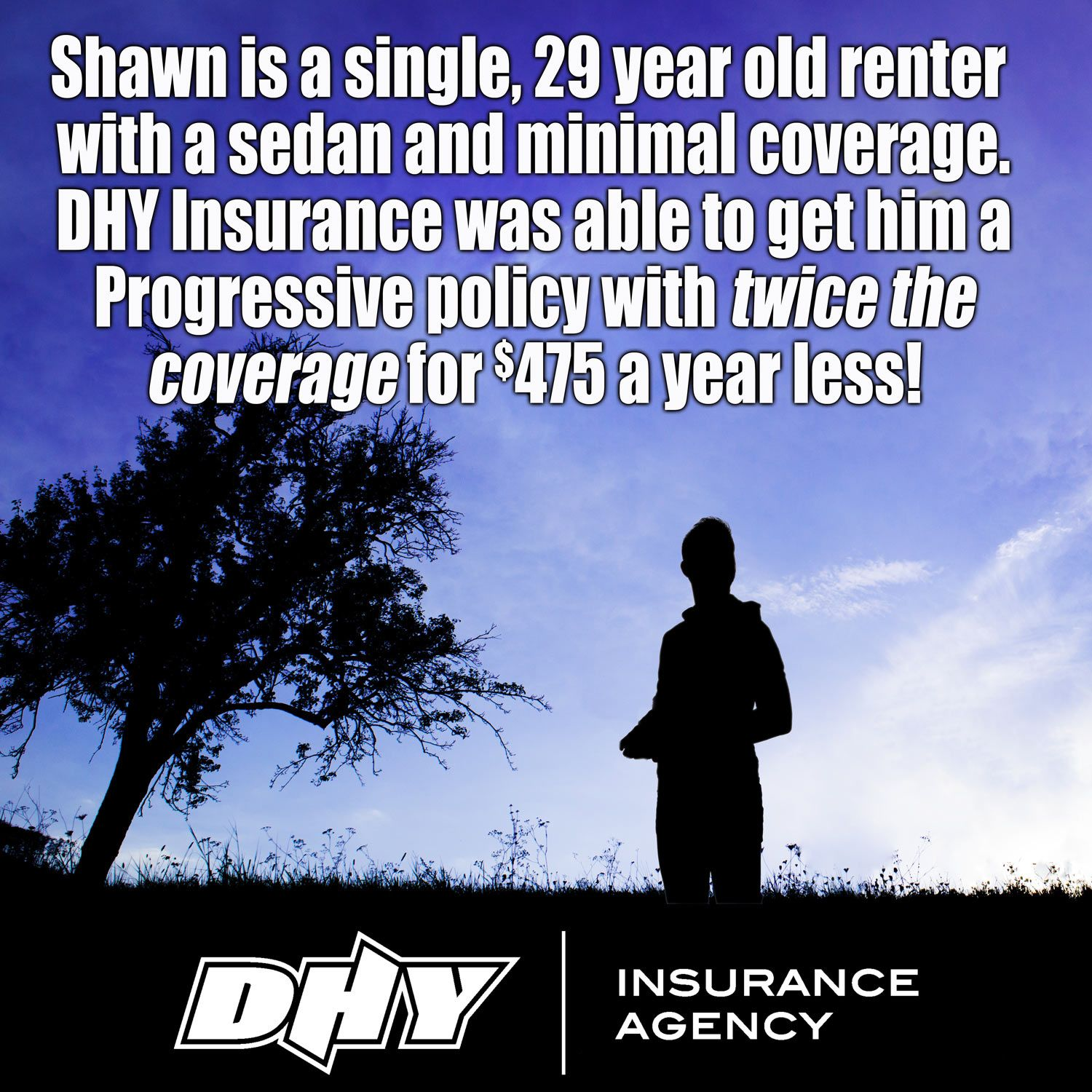 Here's an actual case from the DHYInsurance files. Let us