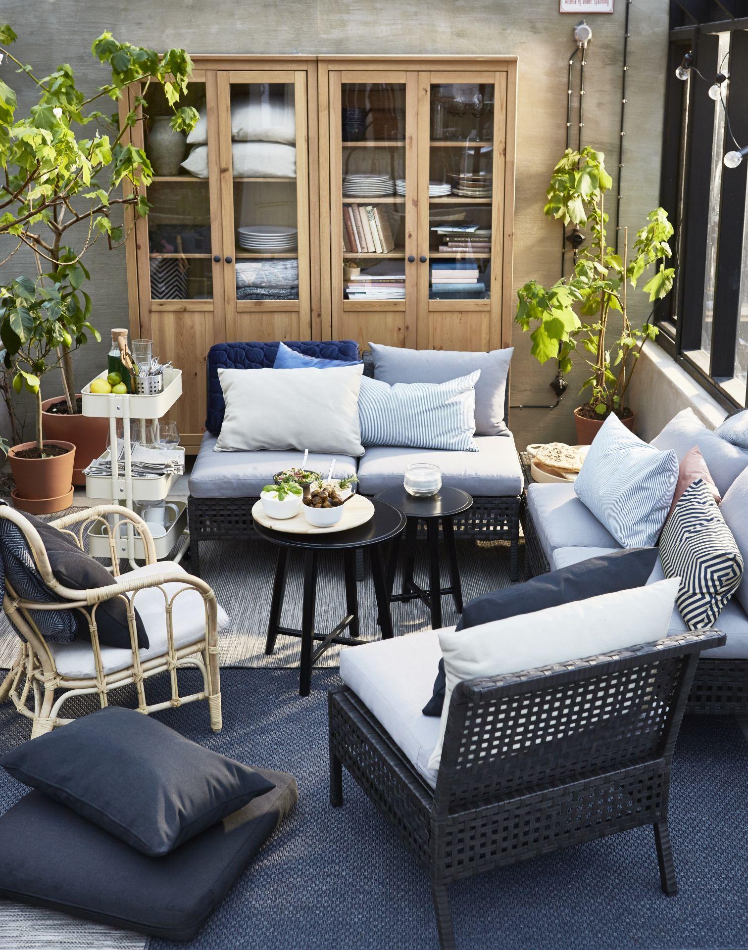 Kussens Ikea Tuin.Kungsholmen Tuinstoel Buiten Zwartbruin Beige Hallo Beige In 2019