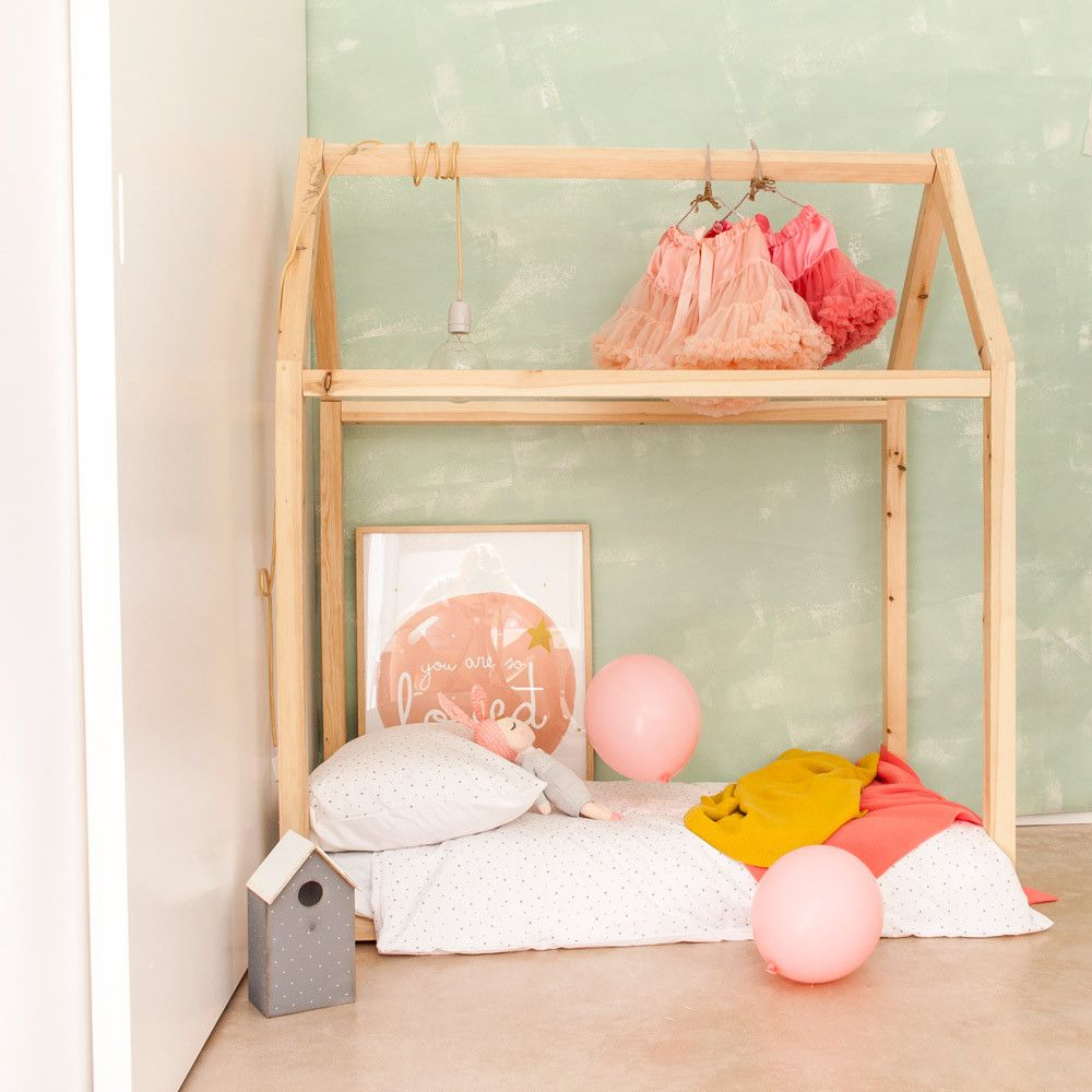 Cama casita de madera decoraci n infantil kids decor - Cama casita infantil ...