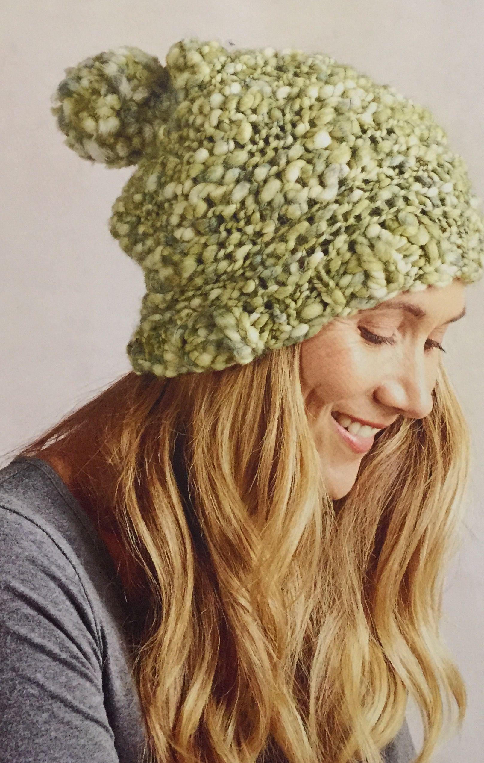 79bc92b0c72 Kald Slouchy Beanie. Knitted beanie. Spotlight Easy as Yarn magazine Winter  2016. Moda Vera Kald 12 ply 110m 100g x 2