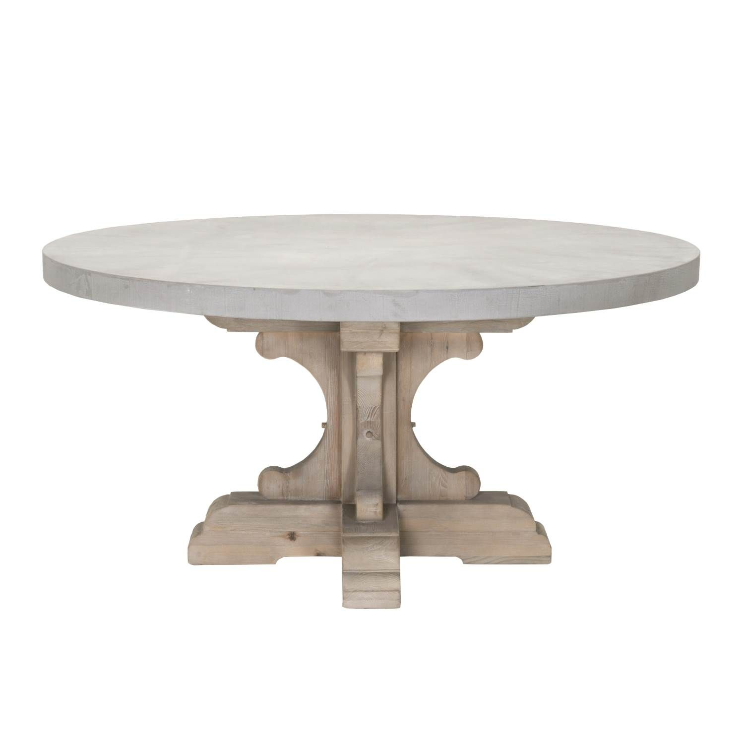 Bastille Round Dining Table Top Round Concrete Dining Table Round Dining Table Stone Top Dining Table #stone #living #room #tables
