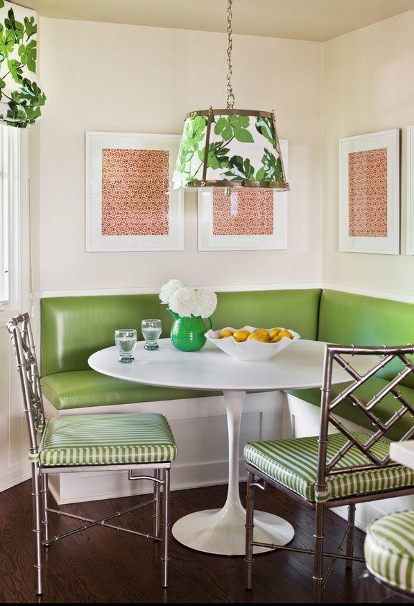 Go For Green Green Dining Room Dining Nook Breakfast Nook