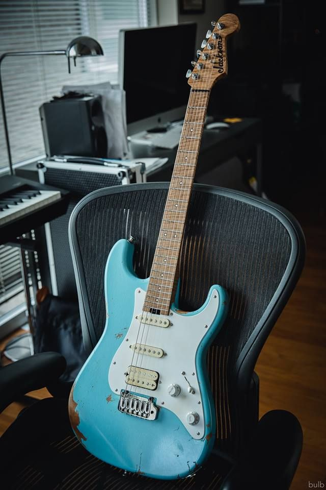 misha mansoor jackson custom shop heavy relic stratocaster guitar jackson guitars guitar. Black Bedroom Furniture Sets. Home Design Ideas