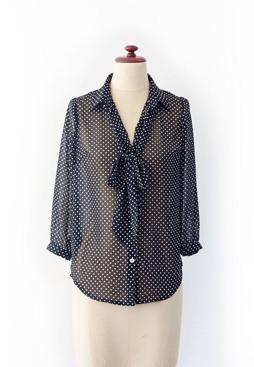 Gorgeous Pussy Bow Blouse PDF Pattern that you can make at home. $9.50, via Etsy.
