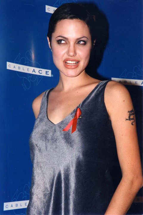 Angelina Jolie Blue Hair 2000