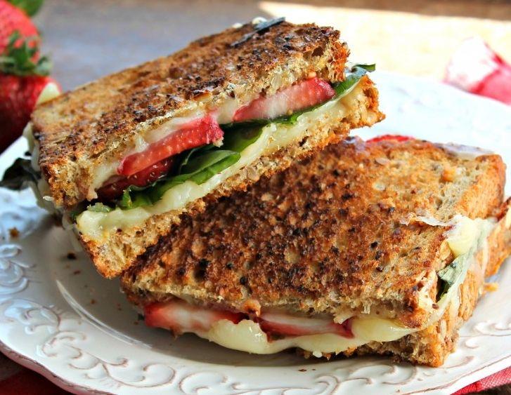 Eat healthy: A grilled cheese, strawberry & basil sandwich (recipe)  Yummy
