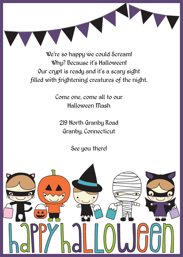 Trick Or Treat Halloween Party Invitation Free