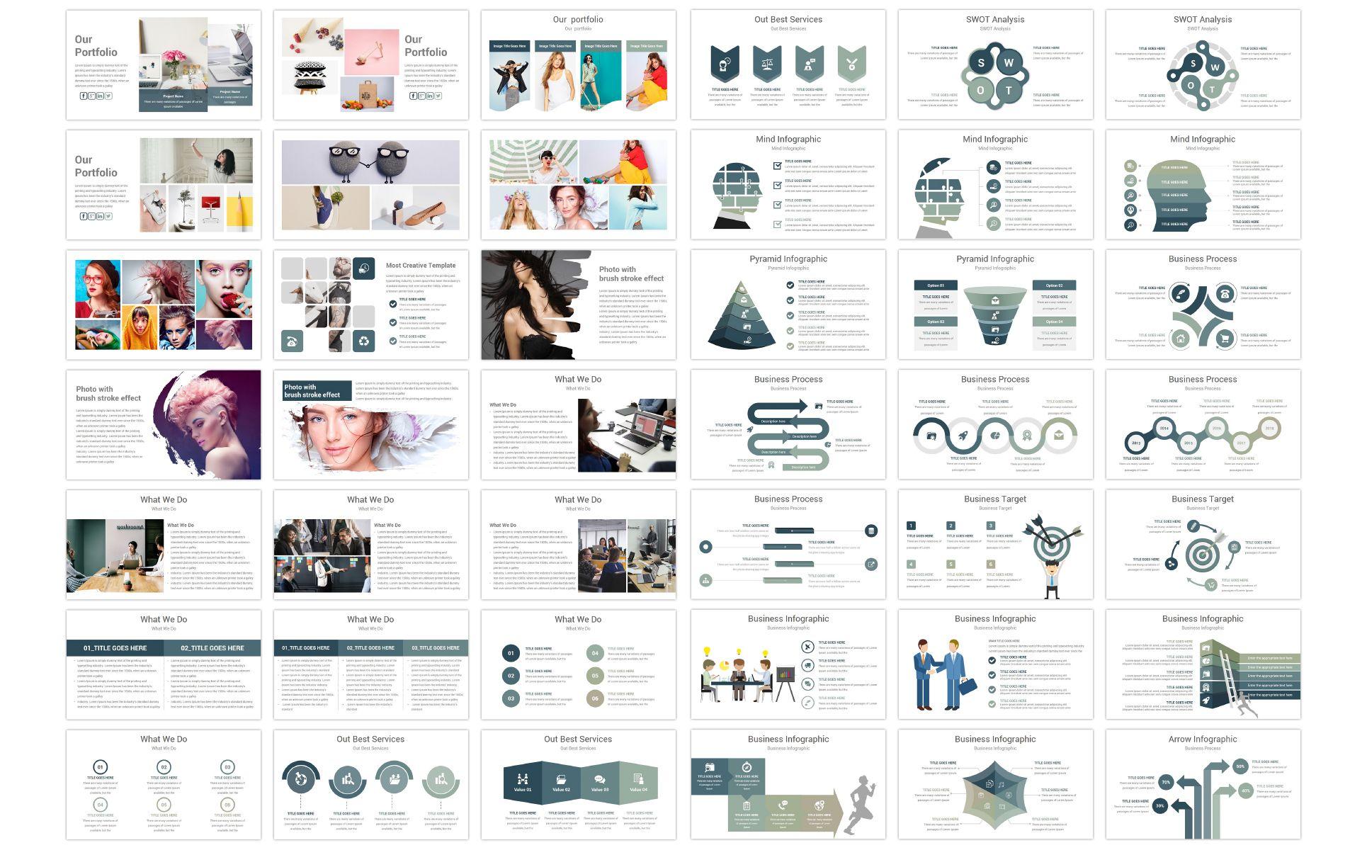 Elegant Powerpoint Template 73840 Footpage Design Templates