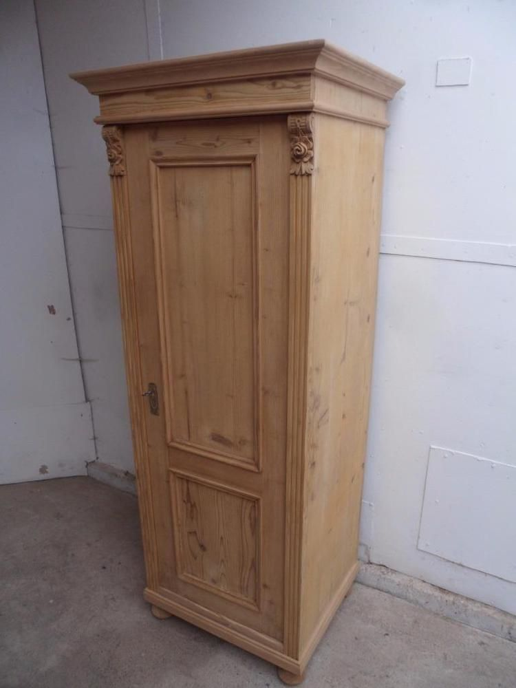 A Really Pretty Tall Thin 1 Door Antique Old Pine Hall Shoe Cupboard To Waxpaint Ebay Tallthinarmoire T Antique Pine Furniture Shoe Cupboard Linen Storage