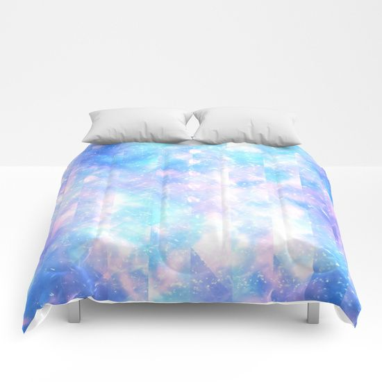 Abstract Pink Teal Geometrical Shapes Lines Pattern Comforters