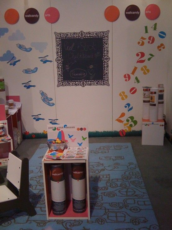The WallCandy trade show booth at the ABC Kids show in ...