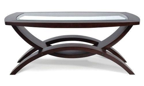 Magnussen T1351 Helix Wood Rectangular Coffee Table Www Hayneedle Com Glass Top Coffee Table Glass Round Dining Table Rectangular Coffee Table
