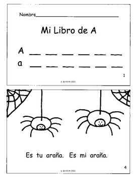 39 los libritos 39 spanish phonics books and letter worksheets packet printables handwriting. Black Bedroom Furniture Sets. Home Design Ideas