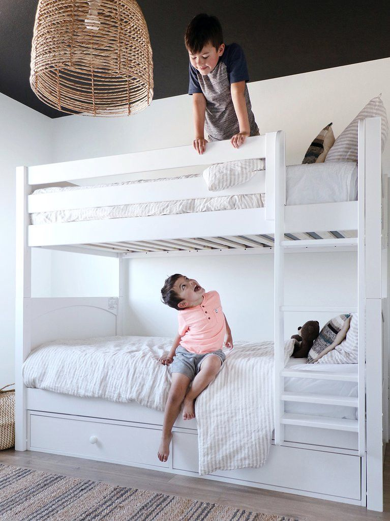 Twin Over Full Bunk Bed With Stairs White 2022 White twin over full bunk bed