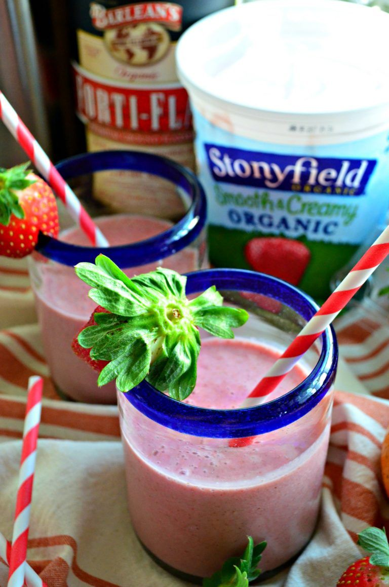 Strawberry Orange Flax Smoothies