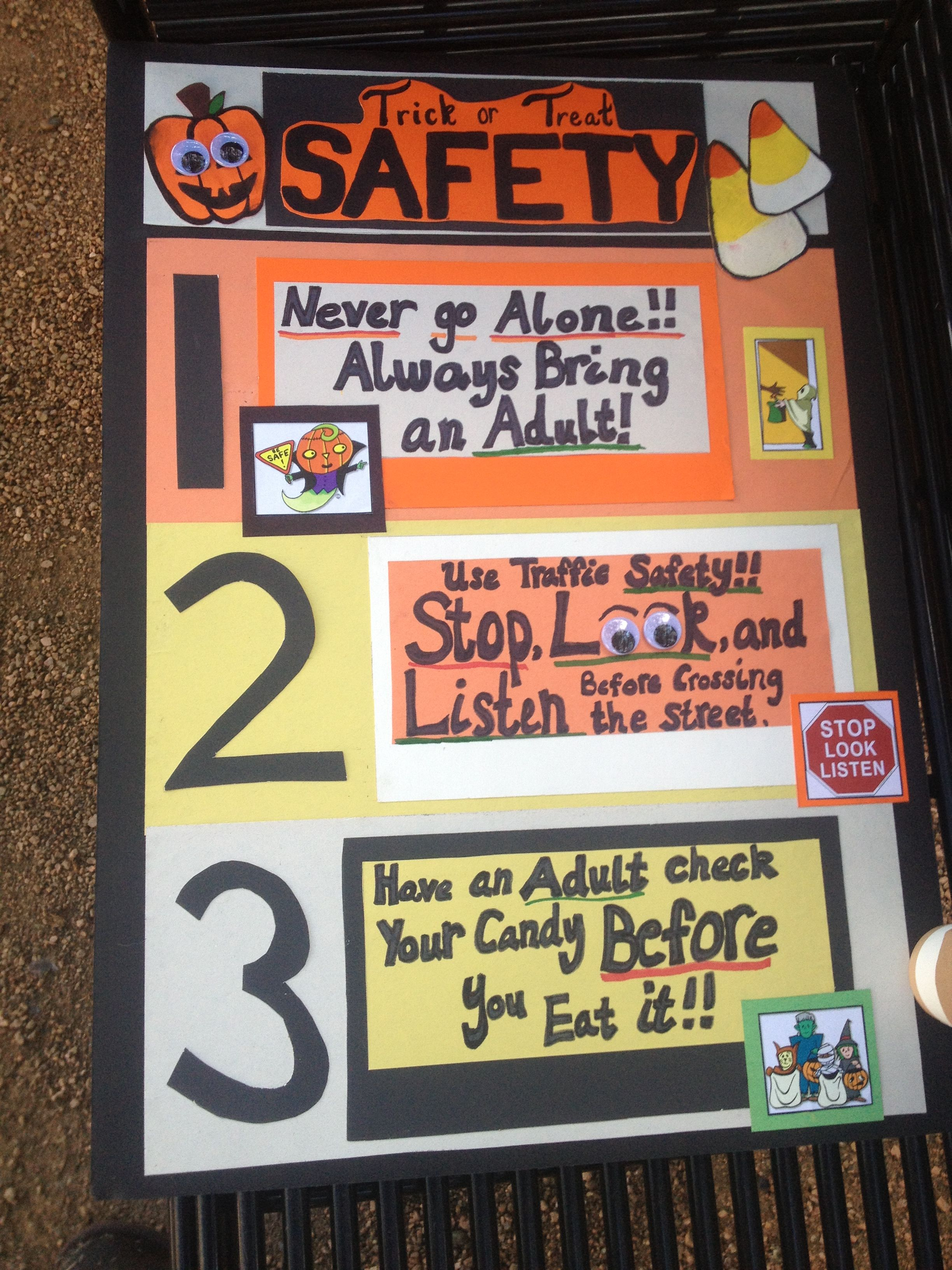 Classroom safety poster.. Check! Halloween safety