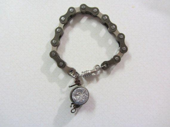 upcycled bike chain bracelet