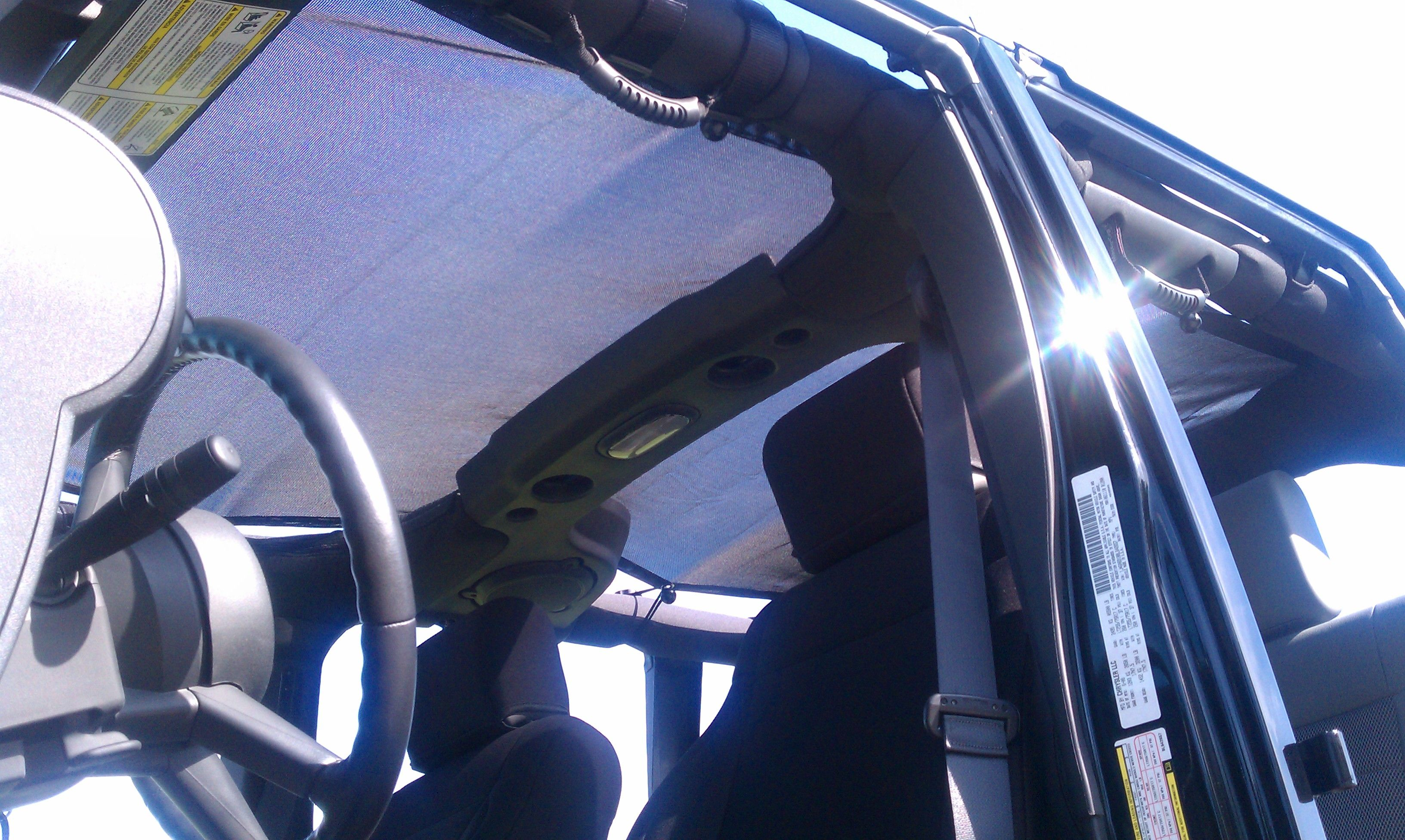 Spider Webshade For Your Jeep Wrangler It Fits Under Your