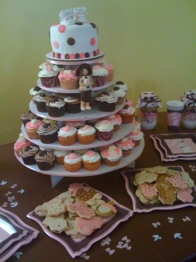 Pink and Brown Baby Shower By tlccar on CakeCentral.com