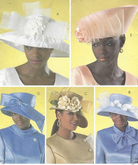 2ee8b212 Womens Hat Patterns Ladies Church Hats Kentucky Derby Hats OOP ...