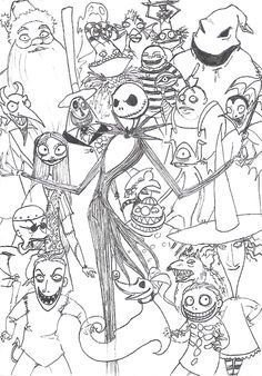The Nightmare Before Christmas Coloring Page Halloween Coloring Pages Halloween Coloring Christmas Coloring Pages