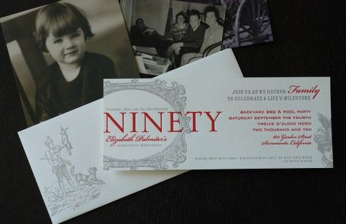 90th Birthday Party Invitation 90th Pinterest 90th Birthday