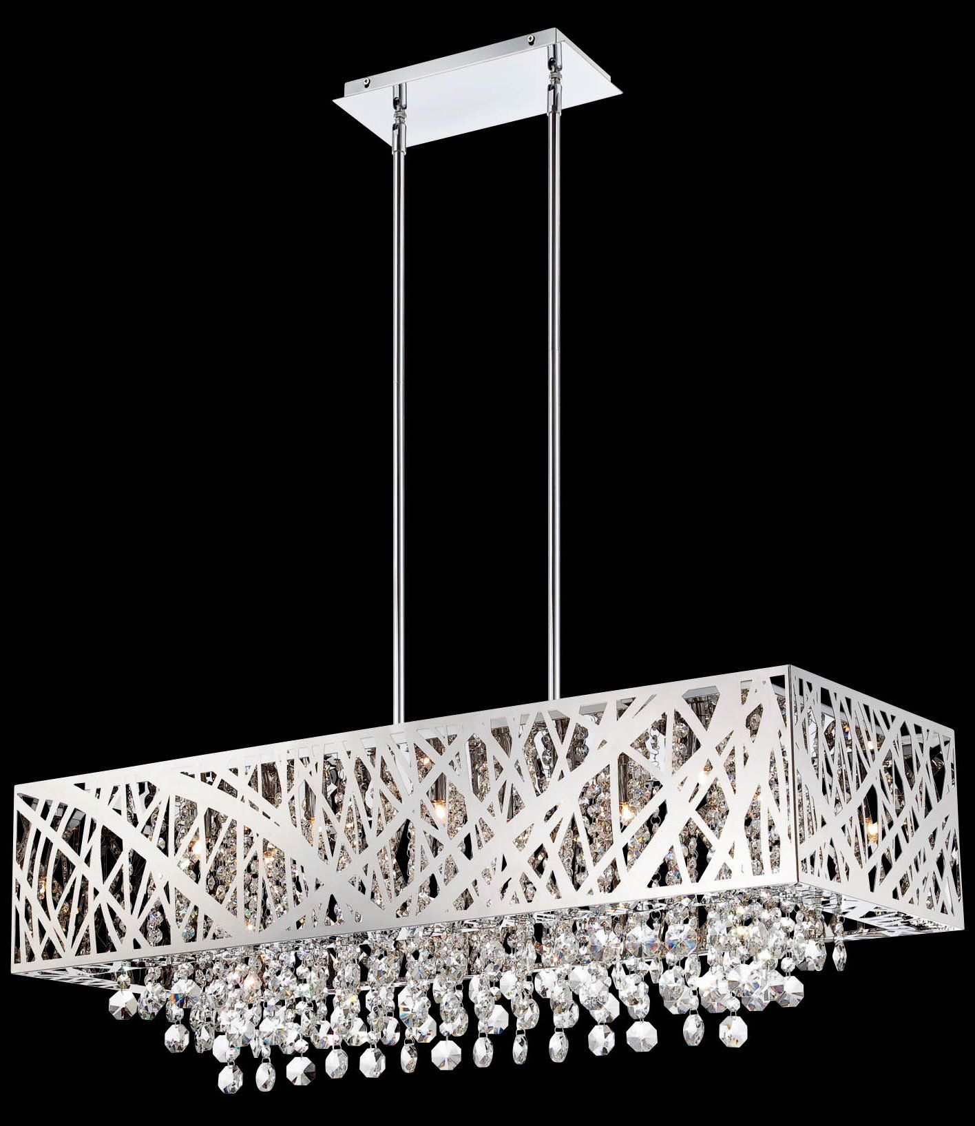 South shore decorating lite source el 10104 benedetta for Rectangular dining room light