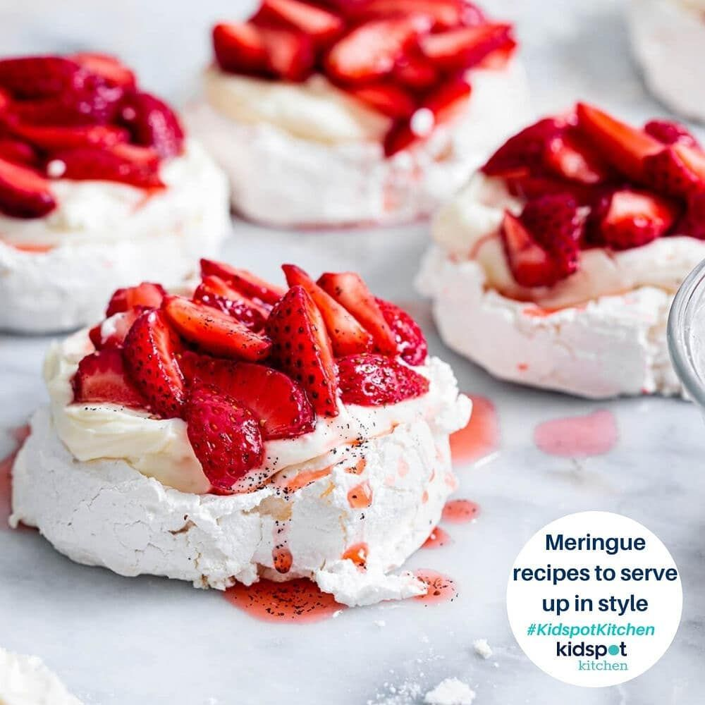 """Kidspot on Instagram: """"Meringues might seem fiddly to make but if you follow these great @Kidspot recipes they'll prove so easy! Serve them up simply or…"""""""