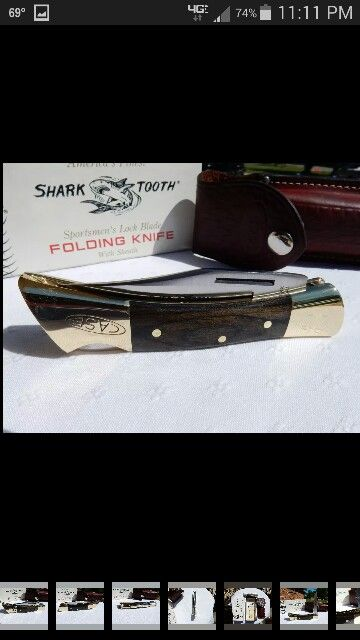 My favorite knife..a 1970s Case shark Tooth. Of course sharpened on my Work Sharp.