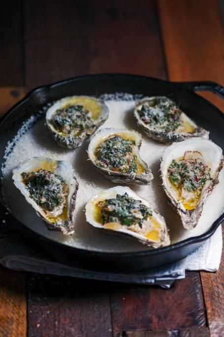 Beautiful baked oysters from legendary chef Justin Devillier