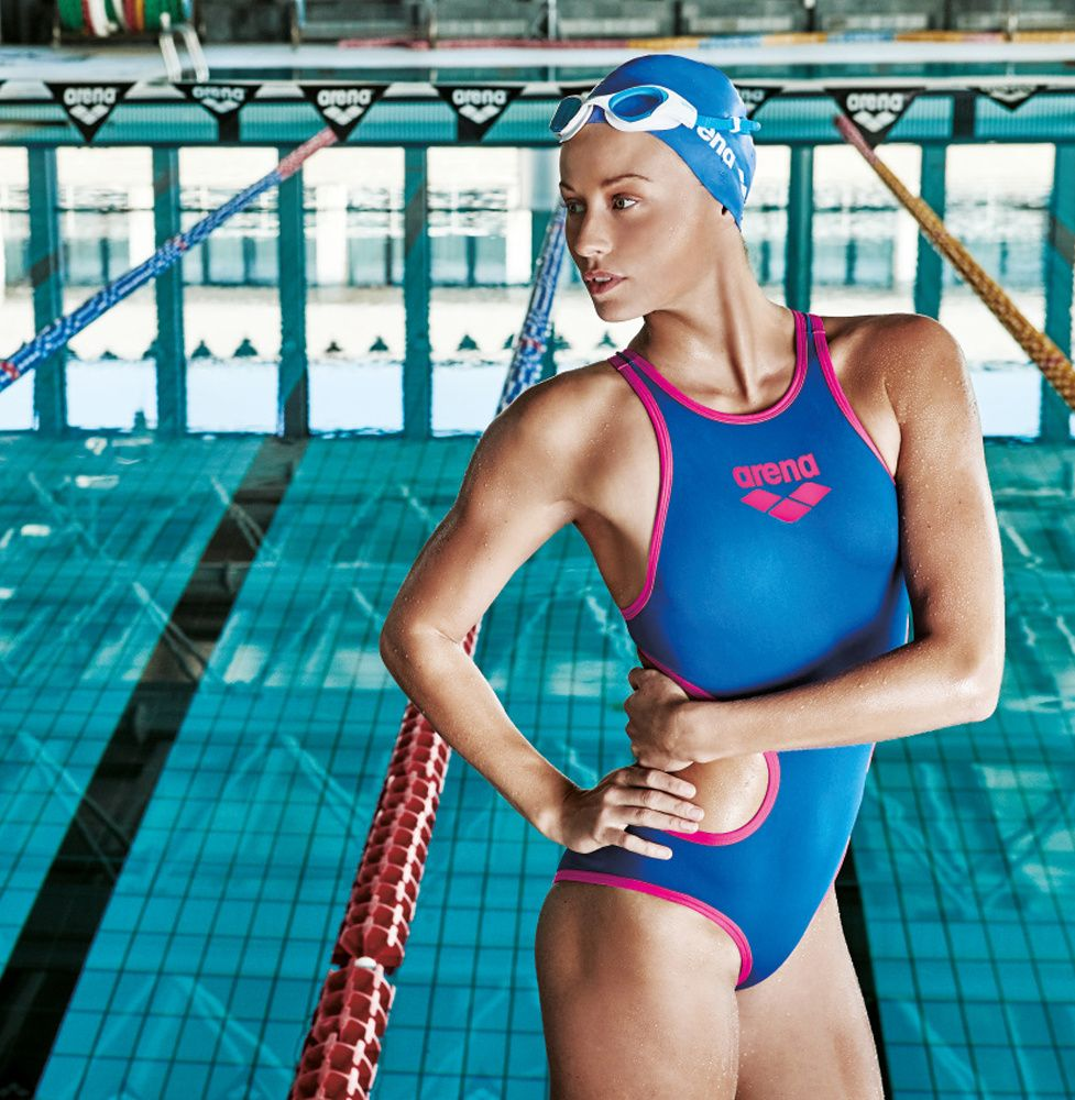 52e59a2d28260 Our One Technology Big Logo swimsuit is made with arena's unique single  piece