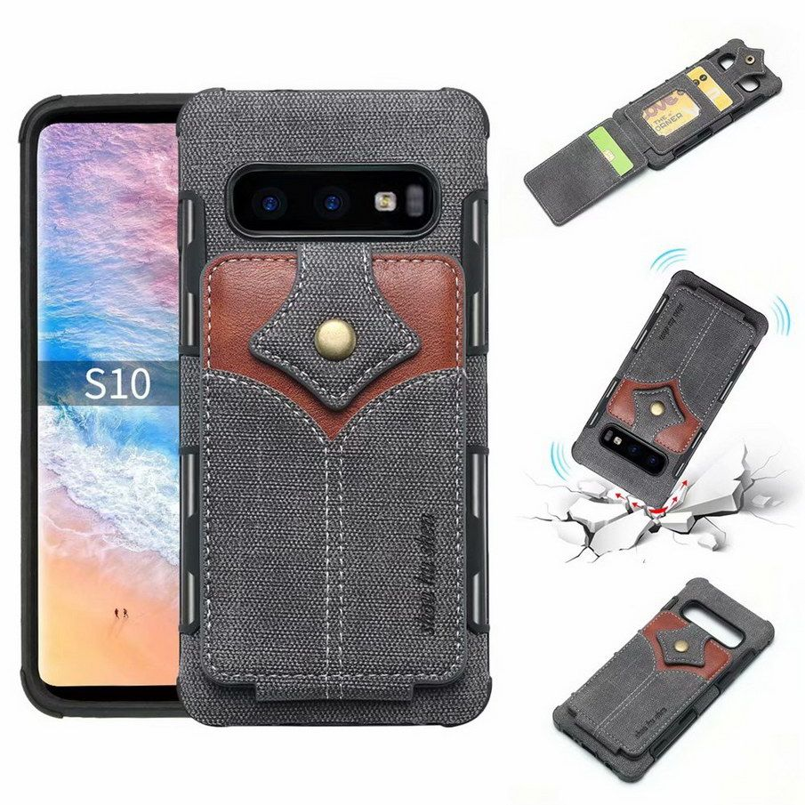 Wallet Cases For Samsung Galaxy S10 Shell Retro Credit