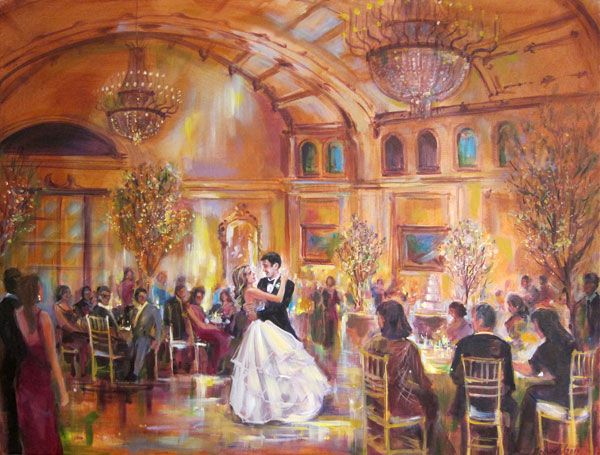 Live Artist To Paint Wedding