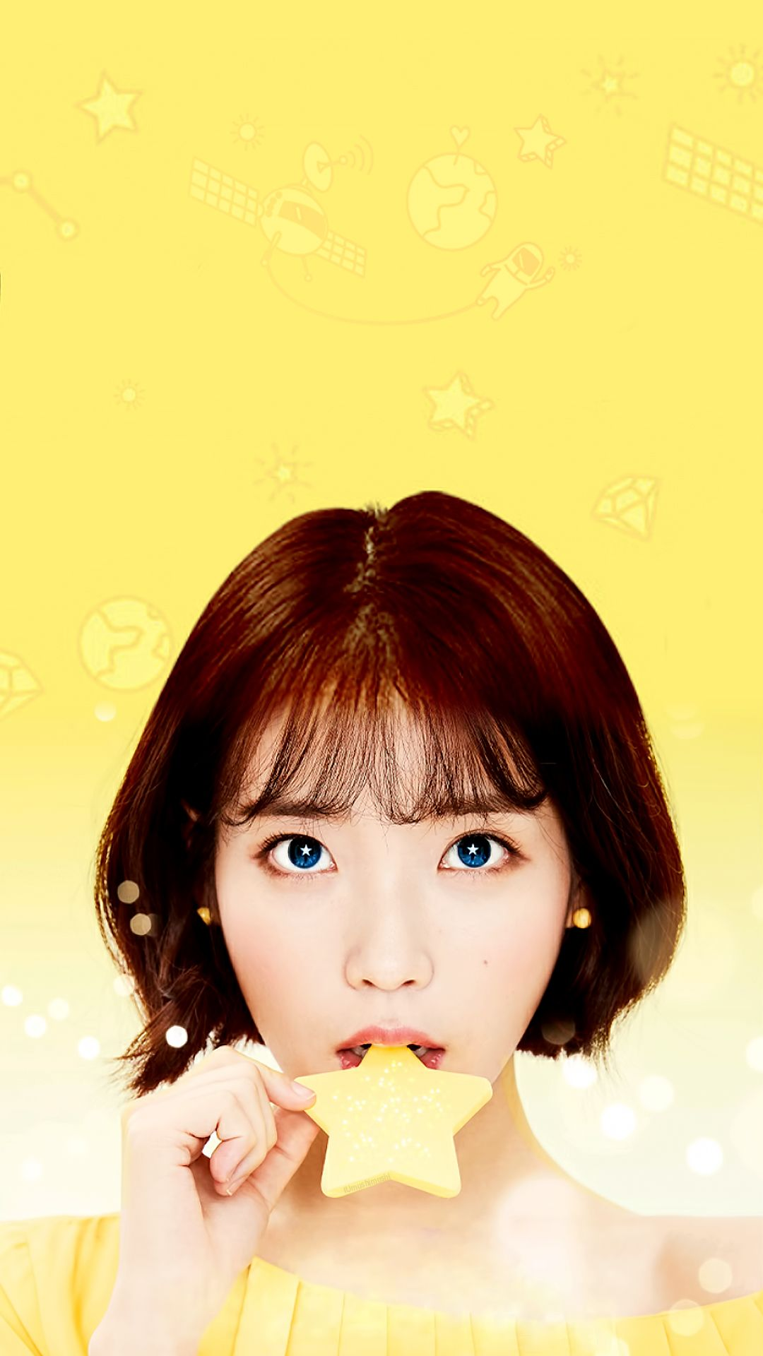 Iu Mobile Wallpaper 1080x1920 1 2 Yellow Aesthetic Kpop Wallpaper Aesthetic Iphone Wallpaper