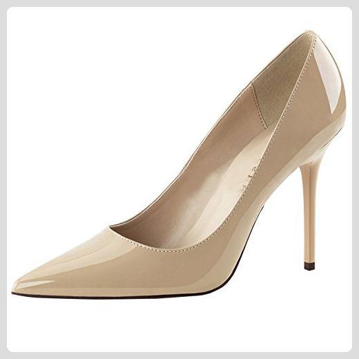 PleaserPleaser Classique-20 - Zapatos de Tacón Mujer, Color Beige, Talla 42