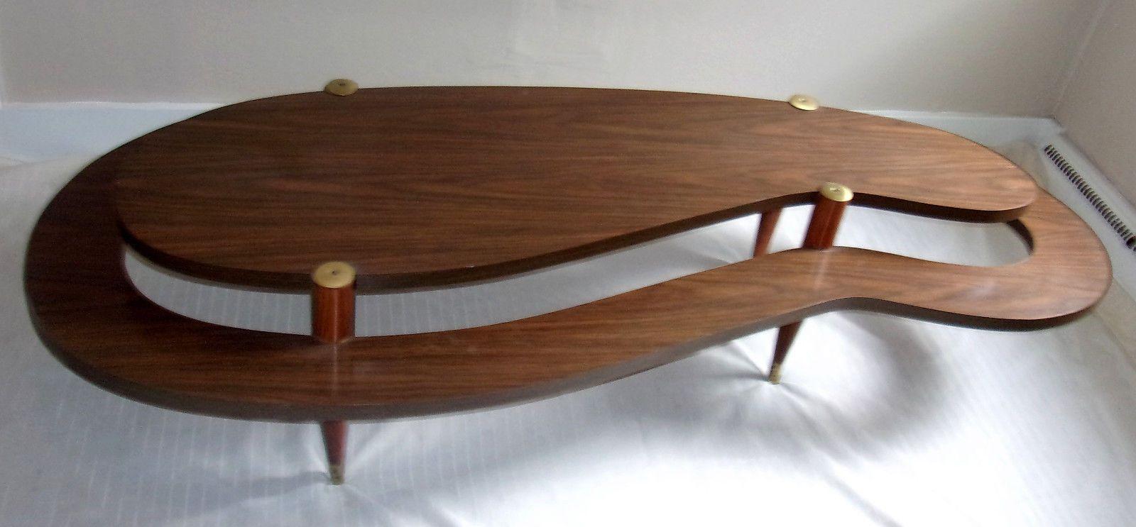 Mid Century Modern Atomic Biomorphic 2 Tier Coffee Table 58 Local Pu Musk Mi Ebay Coffee Table Table Mid Century Furniture [ 743 x 1600 Pixel ]