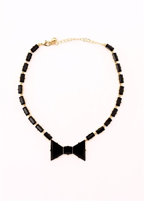NECKLACE BOW BLACK