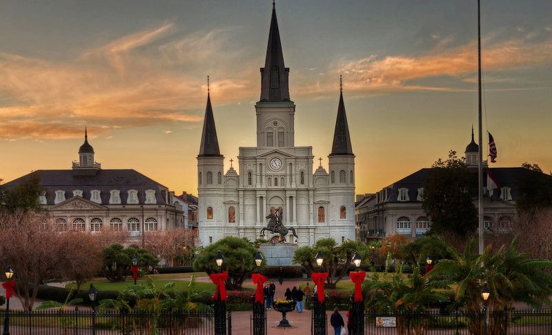 New Orleans, St. Louis Cathedral and French Quarters, where many of my ancestors worked, worshipped, and lived. I went and worked a lot in Quarters. New Orleans is homeplace where I was born.