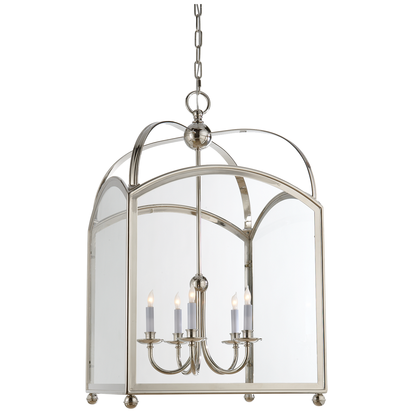 "Arch Top Lantern Height 34 25"" Width 20 25"" Canopy 5 75"