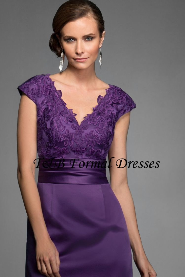 Robe De Soiree Violette Dentelle Dressy Dresses Dresses Mother Of The Bride Dresses