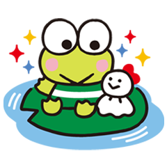 Keroppi from Donut Pond is great at swimming freestyle, but not so confident with the frog style… Nevertheless, these stickers are good for all chat styles!