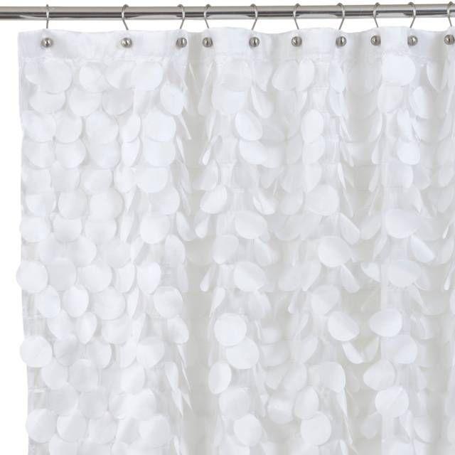 Gigi 72-Inch x 72-Inch Fabric Shower Curtain in White | Girl ...