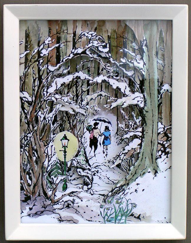Shadowbox Diorama Narnia Lots Of Pics Paper Crafts