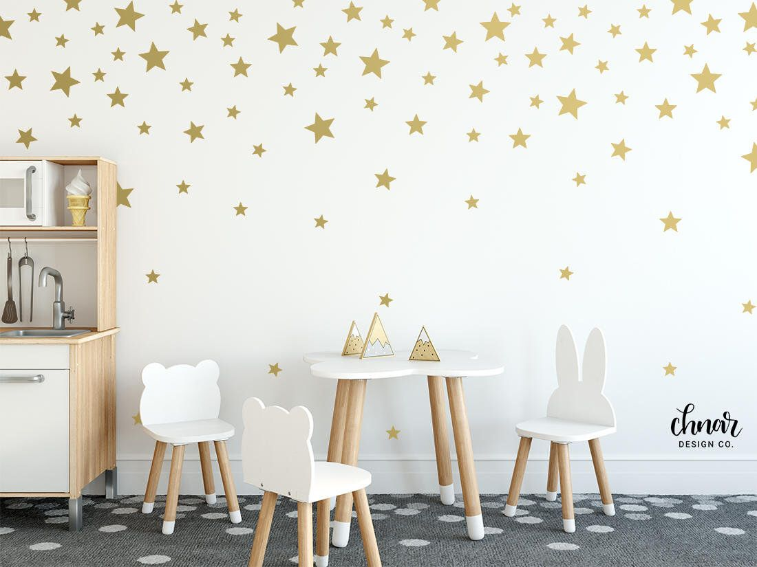 Gold Star Wall Decals Mixed Sizes