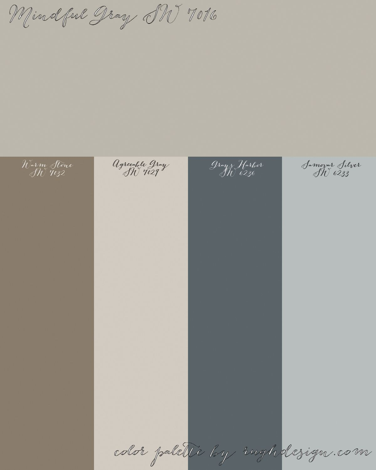 Mindful Gray Sw 7016 With A Complementary Color Scheme