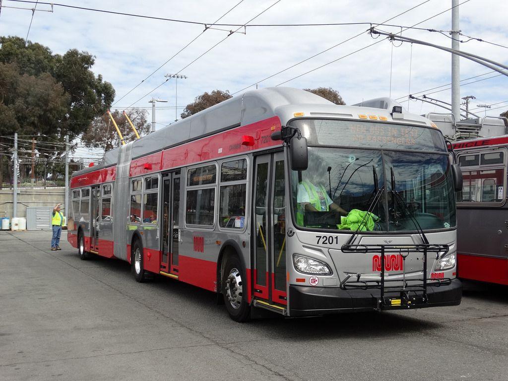 Sfmuni New Flyer 60ft Trolley Coach Trolleys Etc