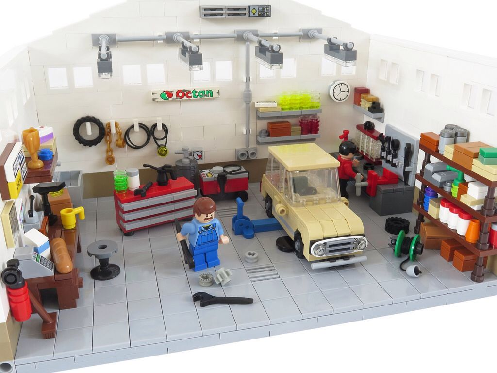 Le Garage Lego Pinterest Lego Lego Creations And Garage