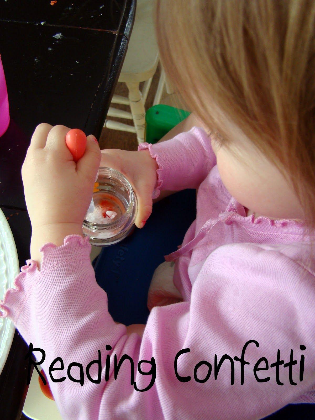 Reading Confetti: Preschool Science Experiment