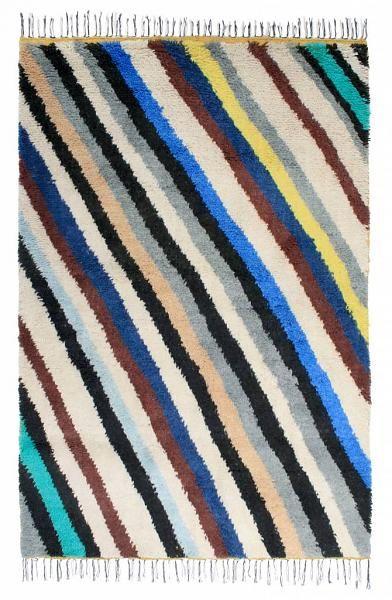 HK-living Tapijt gestreept multicolour wol 200x140cm